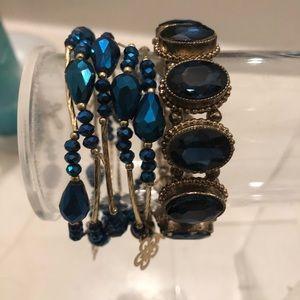 Jewelry - Blue bracelets